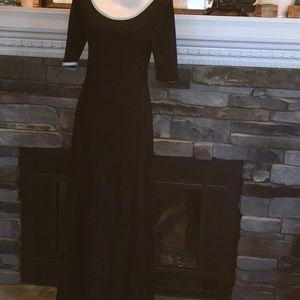 LuLaRoe Ana dress black mint green Xl